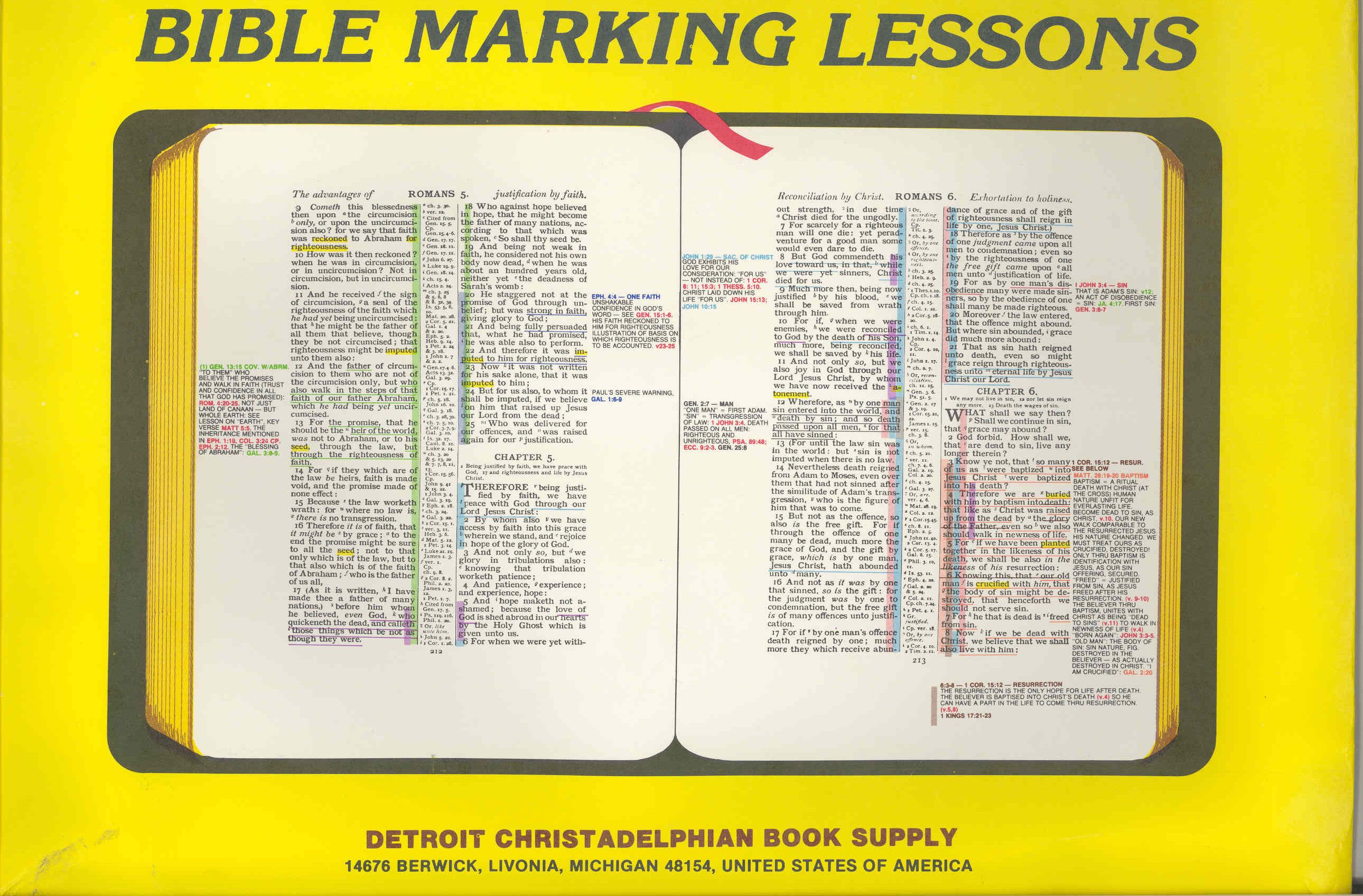 PDF  West Coast Bible Marking Lessons Complete Set