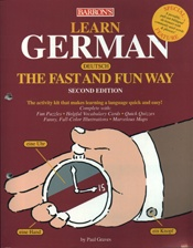 Learn German The Fast and Fun Way, Barron's    USED