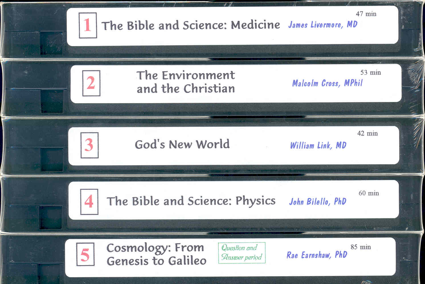 Bible and Science Seminar Video Tapes