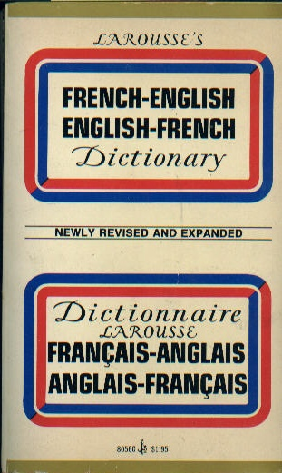 Larousse's French English Dictionary USED