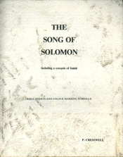 The Song Of Solomon Insert    USED