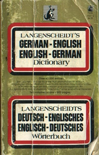 Langenscheidt's German-English English-German Dictionary    USED