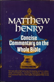 Matthew Henry concise Commentary on the Whole Bible    USED