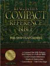 King James Compact Reference Bible (Black Leather)