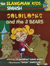 Spanish 2  Goldilocks and the 3 Bears CD and Book